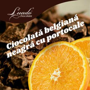 Înghețată artizanală de ciocolată belgiană neagră și portocale
