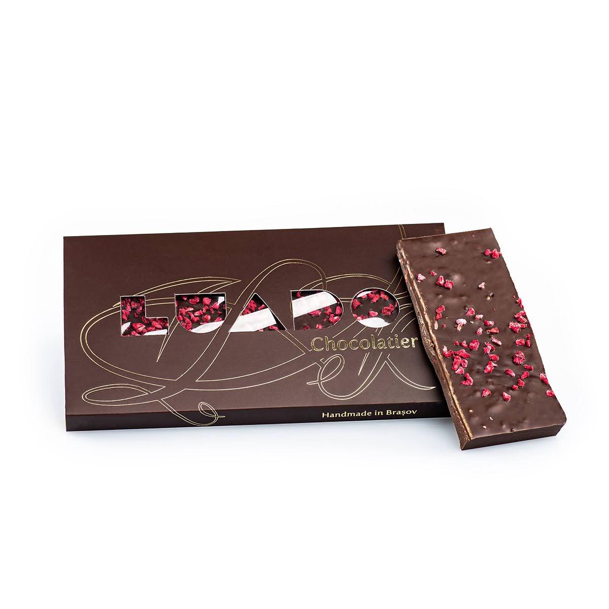 Ciocolată neagră cu zmeură