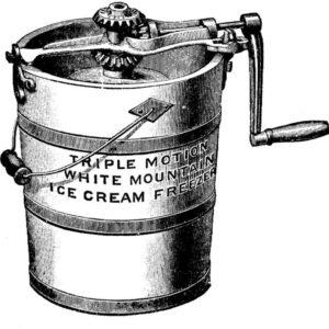 Mașină de înghețată din SUA - prima mașină de mici dimensiuni pentru păstrarea înghețatei